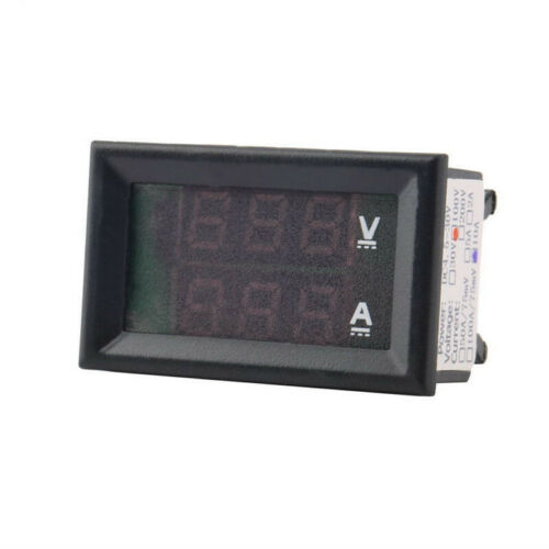 Shunt DC 0-100V 10A 50A 100A Digital Voltmeter Ammeter Dual LED Amp Volt Meter