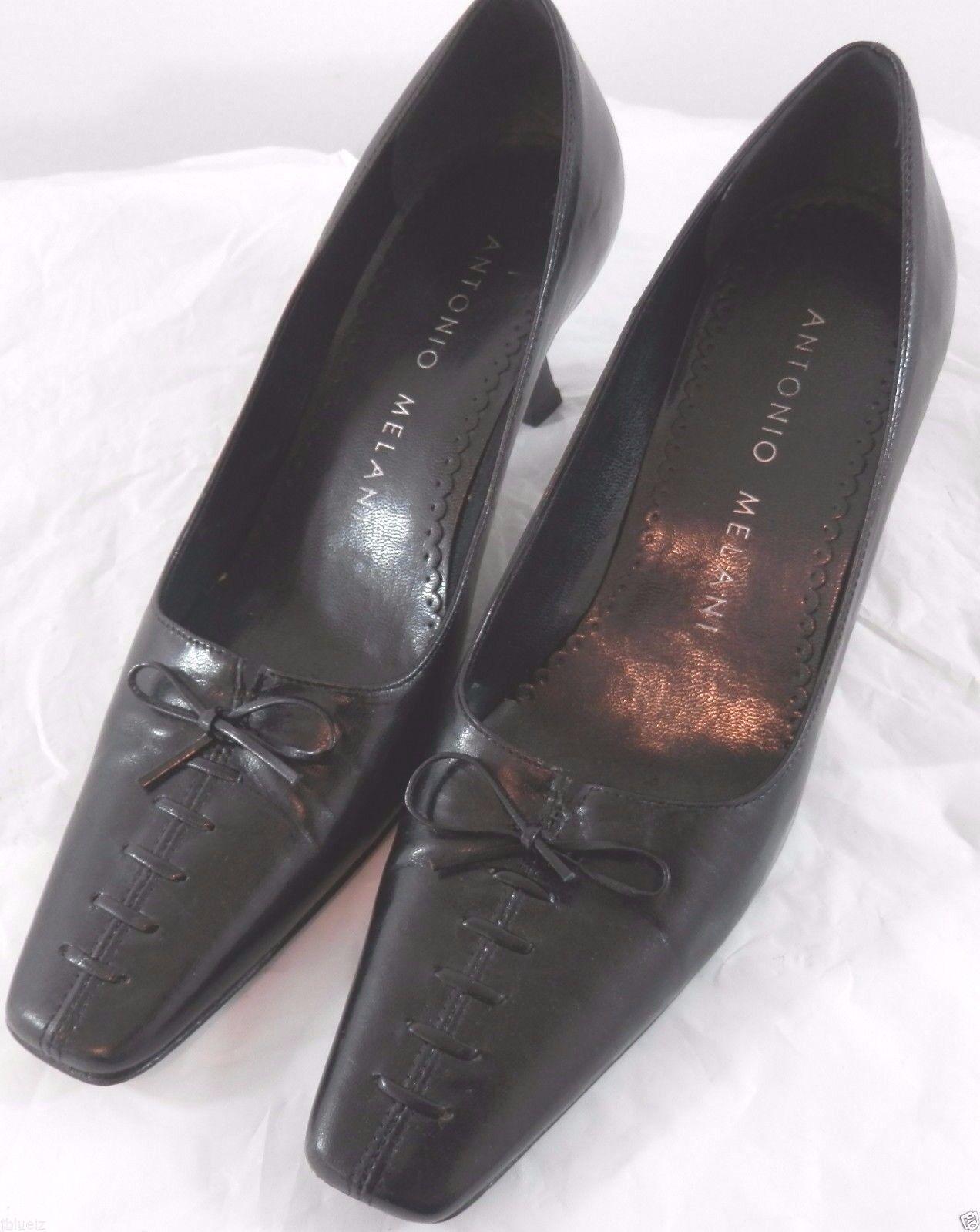Antonio Melani 5.5 Black Womens Heels Pumps Vero Cuioi Glove Fit Leather Souls