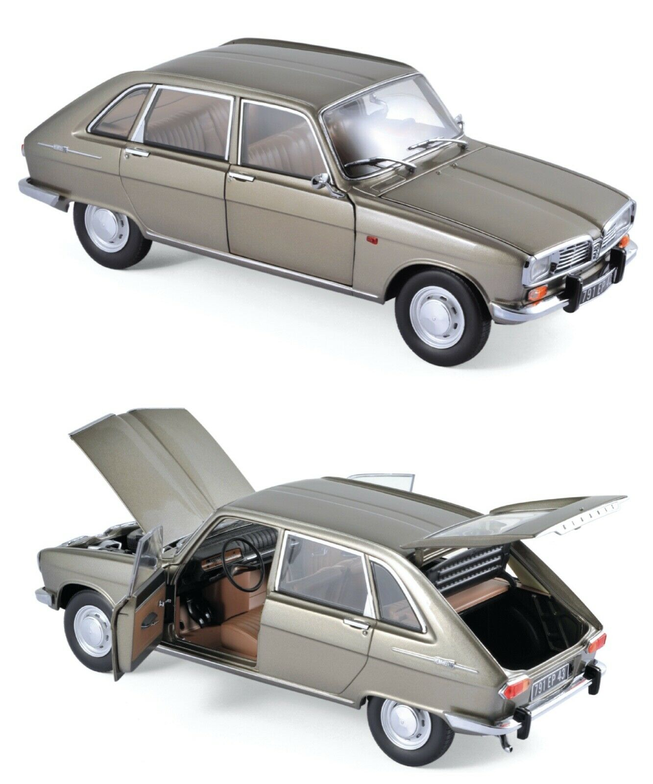 1 18 Norev Renault 16 1969 Beige Grau Metallisch Neu Schachtel