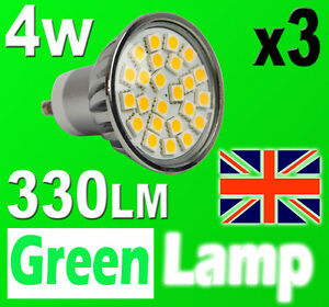 3-x-GU10-24-SMD-5050-LED-Bulb-60W-HALOGEN-with-cover-glass-3000K-Warm-White