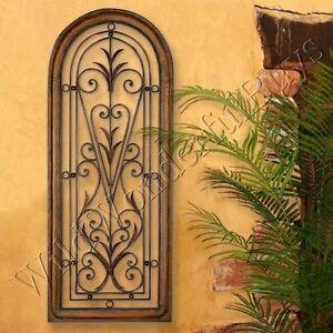Mediterranean Wall Panel Grille Italian Tuscan Window Arch Garden