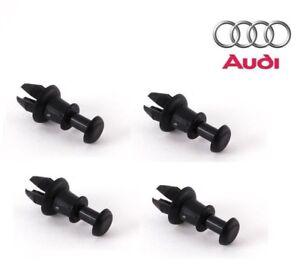A35 Audi 4x Retainer Cover Holding Strap Black Pin Clip Bracket Shelf 8P0862528