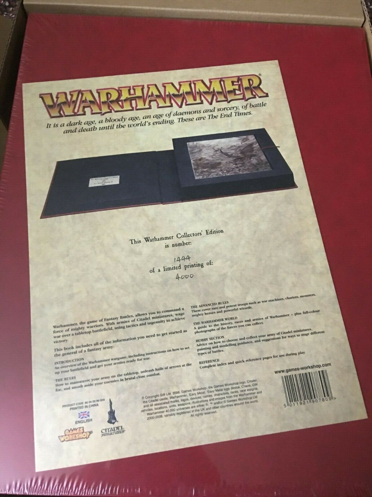 Warhammer Collector's Edition Rulebook  (2006) MIB 1444 4000