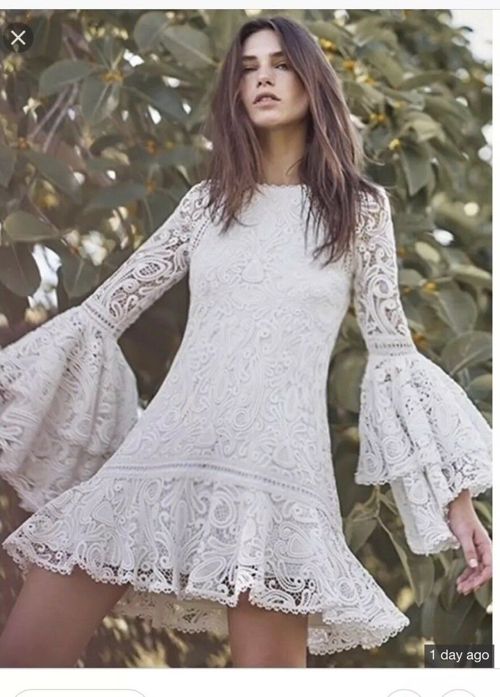 Alexis Veronique Lace White Dress, BNWT, Size Small