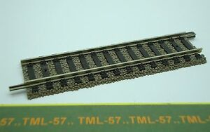 Voie-FLEISCHMANN-PROFI-Rail-droit-100-mm-ref-6103-avec-ballast-integre