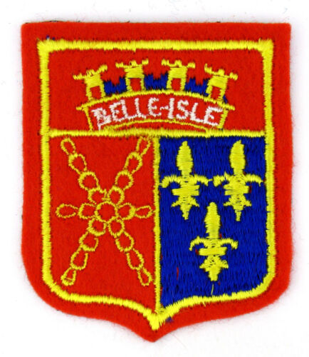Ecusson brodé ♦ (patch/crest embroidered) ♦ BELLE-ISLE