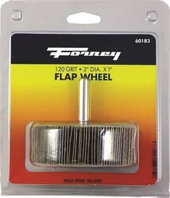 x 1//4 In 120 Grit Shank Mounted Flap Sanding Wheel 60183-1 Each Forney 3 In
