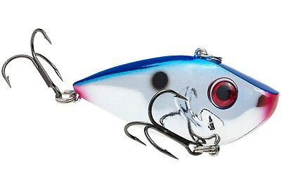 Strike King Red Eye Shad 1//4 oz Chrome//Blue Back