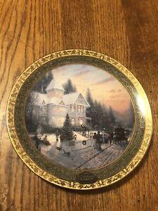 2000-Edition-Thomas-Kinkade-Christmas-Plate-Victorian-Christmas-2nd-Issue