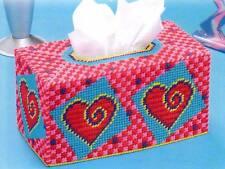 HEART SWIRLS TISSUE BOX COVER PLASTIC CANVAS PATTERN INSTRUCTIONS