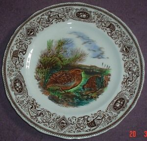 Masons-Large-Cabinet-Plate-THE-QUAIL