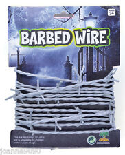 Halloween Party Realistic Fake Soft Silver Barbed Wire Garland String Decoration