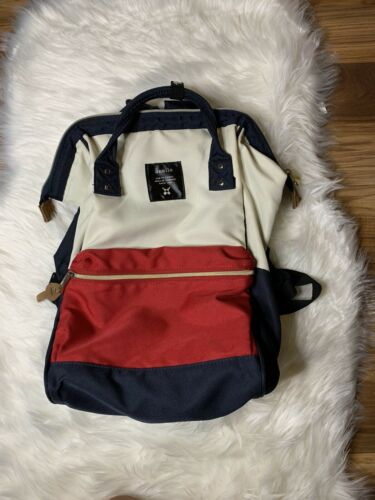 Anello Backpack In Red, White And Blue