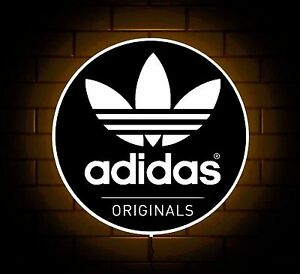 Image Is Loading ADIDAS ORIGINALS TRAINERS BLACK LOGO BADGE SHOP SIGN