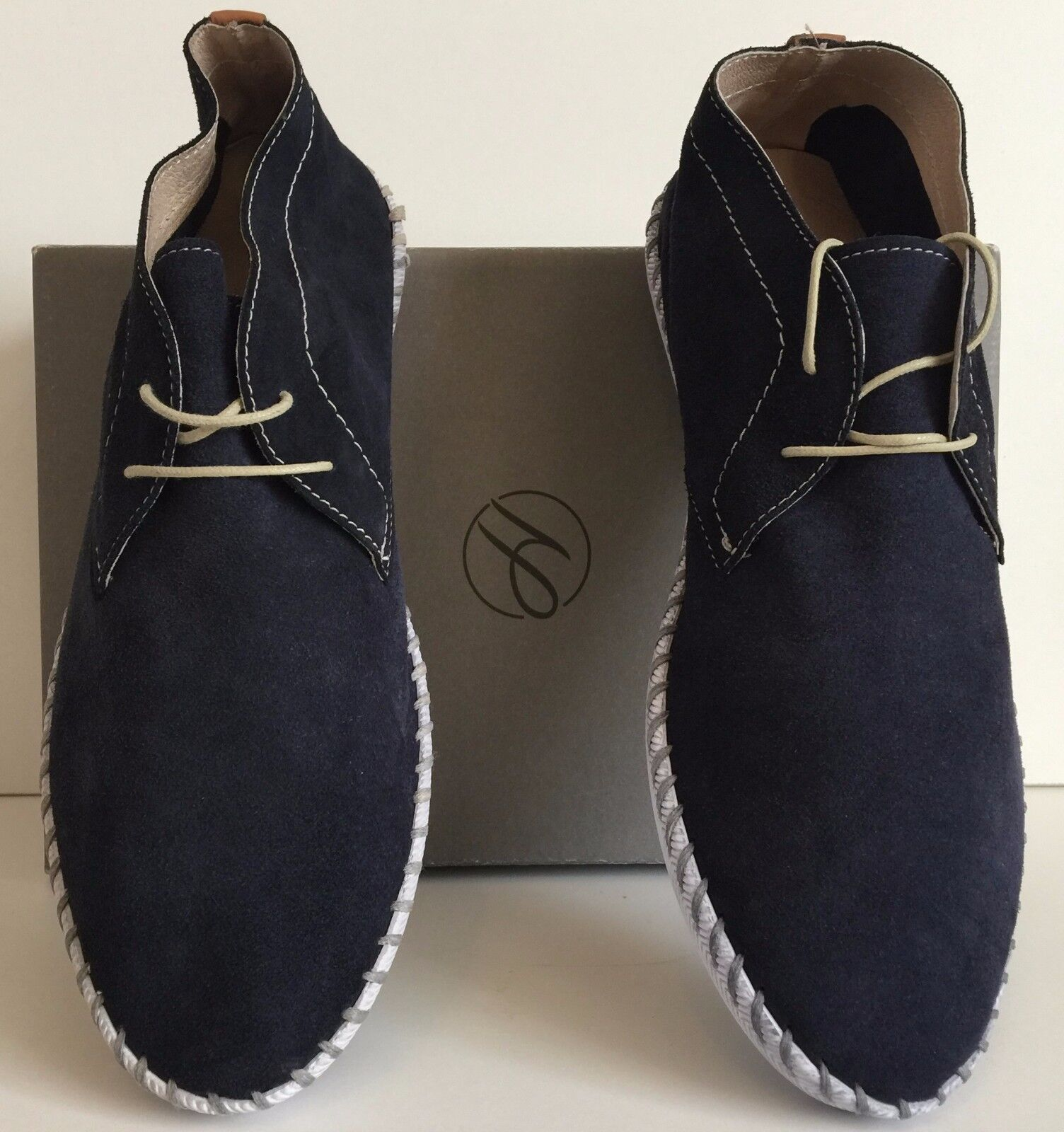 H BY HUDSON NAVY SIZE CORSICA MID SUEDE Stiefel SIZE NAVY 9 267a1b