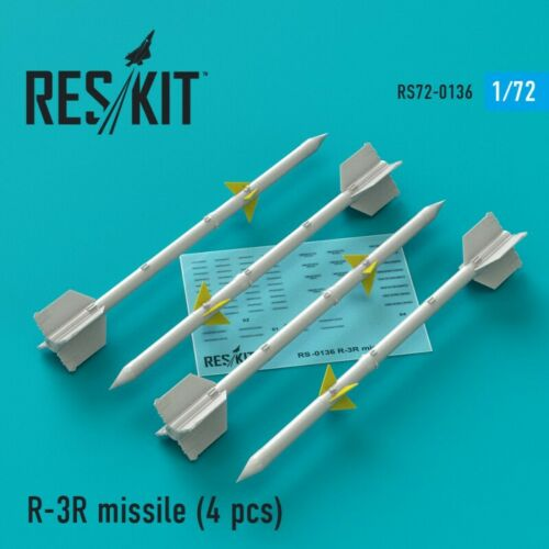 4 Pieces Details about  / ResKit RS72-0136 R-3R Missile Scale 1//72