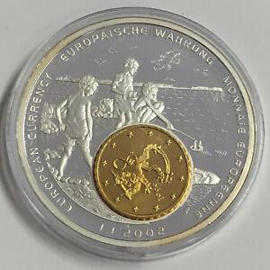 Coins & Paper Money Liberia 1$ 2002 Pp Mit Finnland 10 Cent 1999 Inlay Zur Eu Währung Punctual Timing Sl5-2 Africa