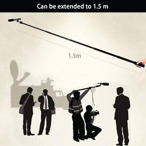 Micro-Boom-Pole-Microphone-Mic-Holder-5-Section-Boompole-35-5cm-150cm