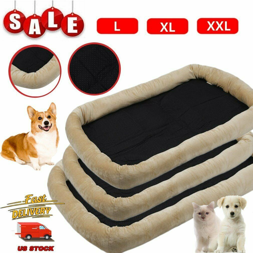 NEW Pet Bed for Dog Cat Crate Mat Soft Warm Pad Liner Home Indoor Outdoor