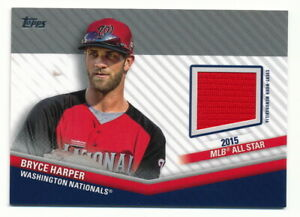 Details about BRYCE HARPER 2020 TOPPS UPDATE ALL-STAR STITCHES JERSEY RELIC NATIONALS (2015)