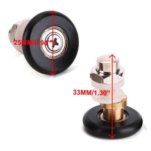 4 x Duschtürrollen Duschkabine Rollen Ersatzteile für Duschkabinentür 25mm