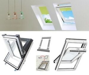 dachfenster kunststoff velux 55x98 66x118 78x118 78x140 94x140 skyfenster pvc ebay. Black Bedroom Furniture Sets. Home Design Ideas