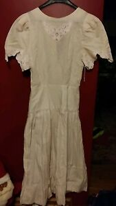 015-Vintage-ladies-Perspective-size-7-dress-Ramie-Cotton-blend-Cream-Pink