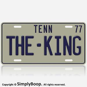 Tennessee-Elvis-The-King-of-Rock-039-N-039-Roll-Replica-1977-License-Plate-Tag-New