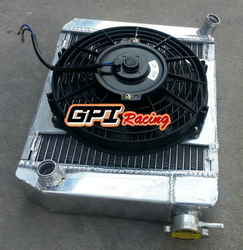 50mm for 1959-1997 AUSTIN ROVER MINI COOPER 1275 MT Aluminum Radiator/&Shroud/&Fan