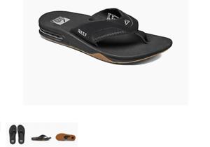 Reef Fanning Black Silver Sandal Comfort Flip Flop Men/'s US sizes 7-17 NEW!!!