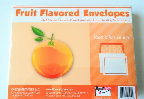 Apple... Straberry Cherry Flavorlopes Box of 10 Fruit Flavored Envelopes