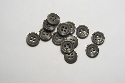 8pc 18mm Matt Green Mock Horn Bone Cardigan Trouser Shirt Kid Baby Button 0554
