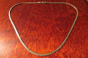 Bezaubernde-925-Silber-Kette-Designer-Retro-Vergoldet-Love-Liebe-Vintage-Top