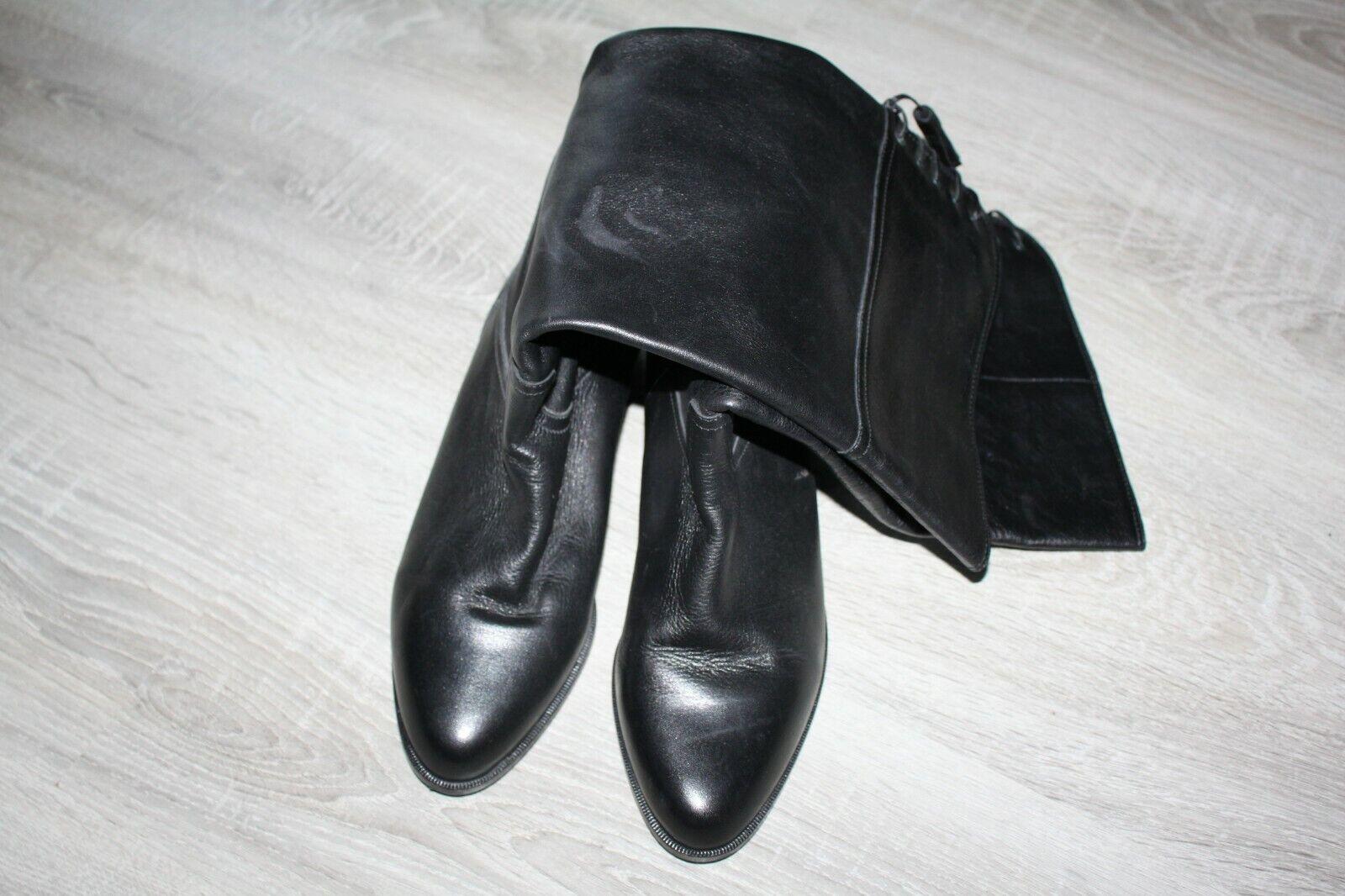 Gabor Damen Stiefel schwarz Leder 6  40 wie neu