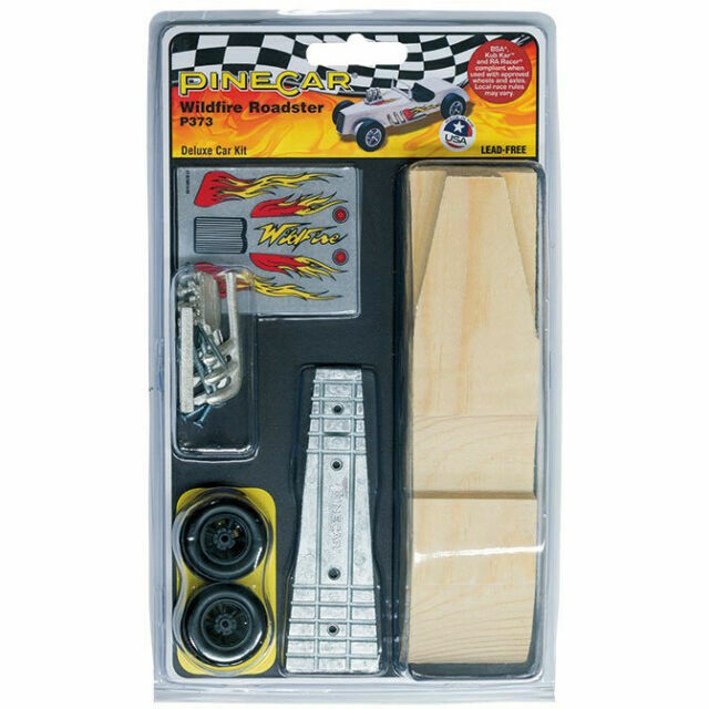 PineCar Derby Deluxe Car Kit Wildfire Roadster P373 For