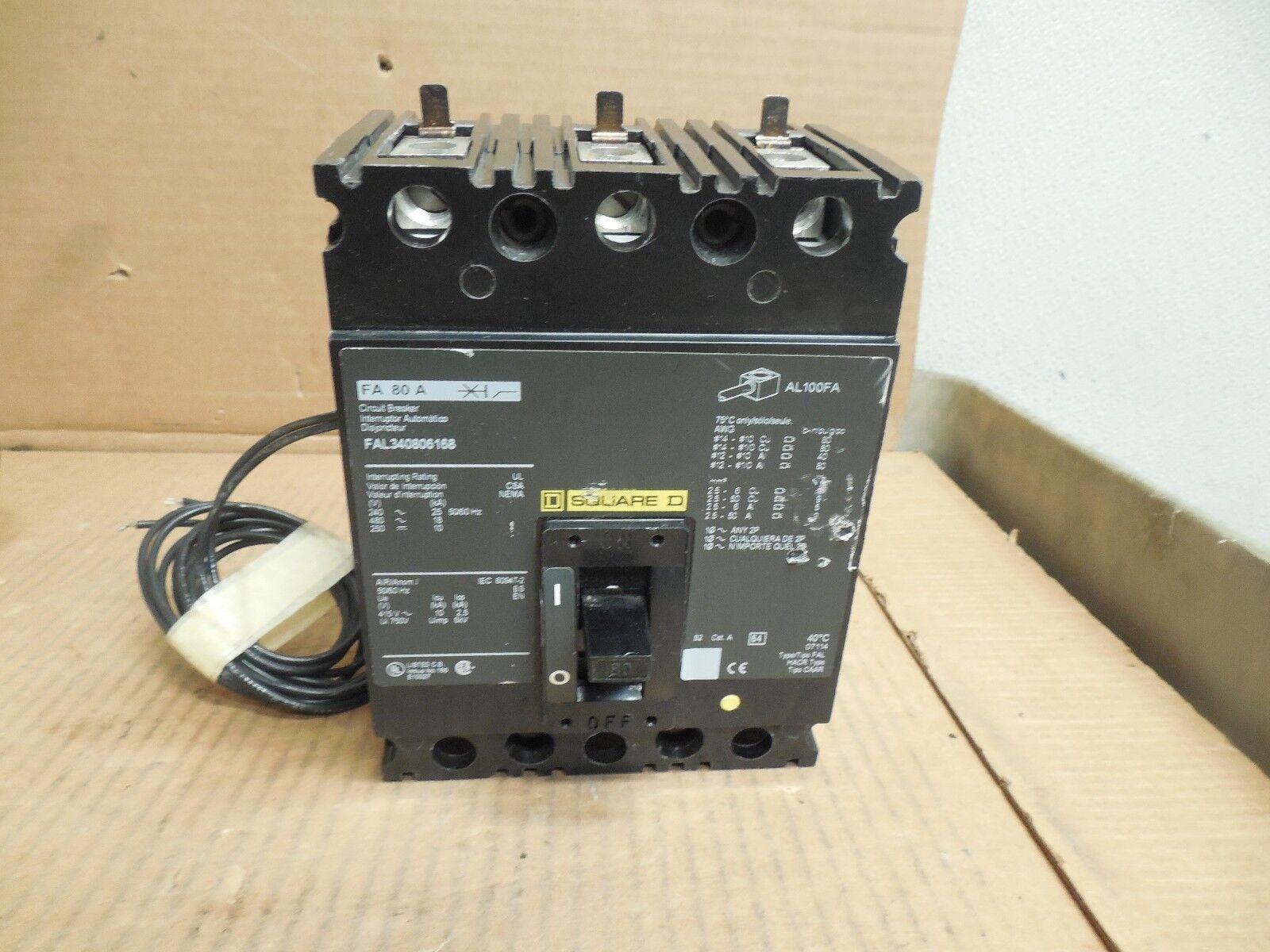 Laser Entfernungsmesser Keyence : New square d shunt breaker fal340806168 80 aa amp