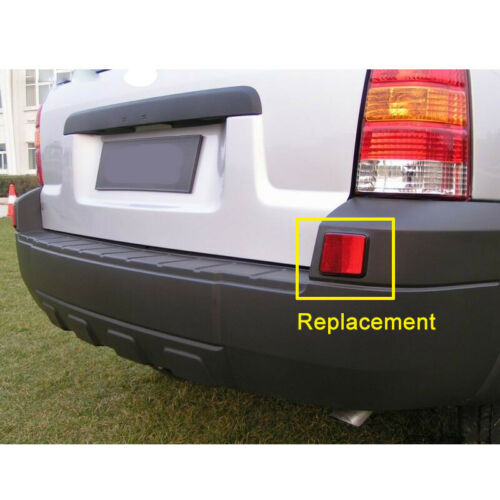 2pcs Rear Bumper Red Reflector Light Stone Deflector Fit For Ford Escape 2005-07