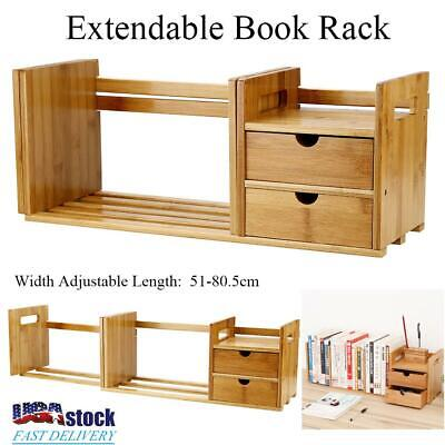 Bookcase Desktop Shelf Desk Bookshelf File Storage Organizer Rack Table Office Ebay