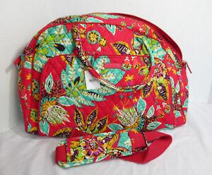 Vera-Bradley-Women-Women-039-s-Travel-Weekender-fits-on-roller-bag-RUMBA-bright