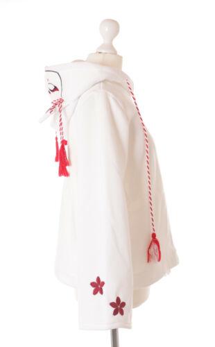 TS-191-1 weiß Japan Glücks-Fuchs Sakura Tempel Fox Lolita Hoodie Pullover