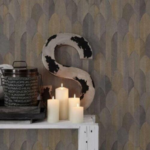 Sumatra Black and Gold Feather Wallpaper Luxury Textured Vinyl 37373-5