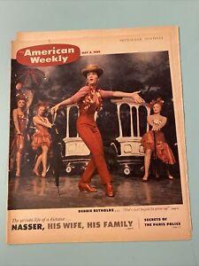 1959 May 3 1959 AMERICAN WEEKLY MAGAZINE Debbie Reynolds Gamal Abdel Nasser