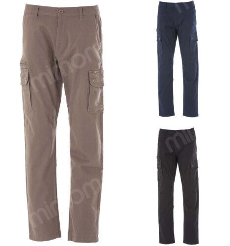 Uomo Australia Pantaloni Multitasche Lavoro Cotone Elasticizzato Pantalone Jrc PITO8xTw