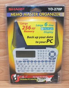 Vintage-Sharp-YO-270P-Memo-Master-Organizer-w-Back-Light-Display-NEW