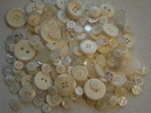 Ivory-cream-off-white-buttons-small-medium-to-large-choice-of-sizes-amp-weights