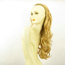 DT Half wig HairPiece extensions long wavy light golden blond 25.6  REF :15/lg26