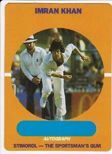 1989-90 Stimorol, Scanlens Cricket Card - Imran Khan #59