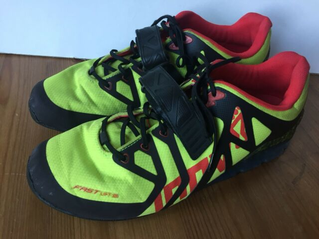 Inov 8 Fastlift 335 Weightlifting Shoes Lime Black Red Size Mens 12 Crossfit