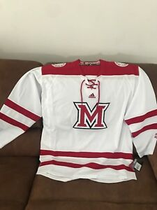 Image is loading Adidas-Miami-University-Redhawks-Ohio-Ncaa-Hockey-Jersey- 5b2a02044