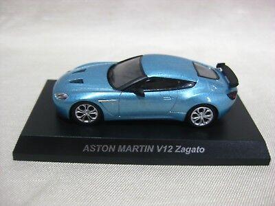 1 64 Kyosho Aston Martin V12 Zagato Light Blue Diecast Model Car Ebay